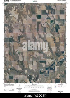 USGS TOPO Map Kansas KS Oberlin SW 20091126 TM Restoration - Stock Image
