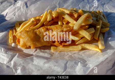 Fish and chips. - Stock Image