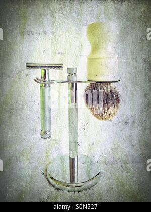 Wet Shaving - Stock Image