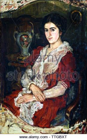 Natalie Baczewski by Oskar Kokoschka born 1886 Austria Austrian (expressionistic portraits and landscapes) - Stock Image