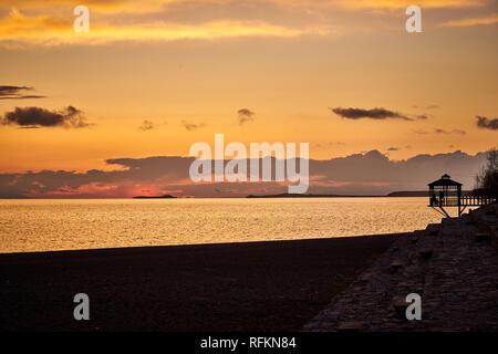 Sunset at Lake Van, Turkey - Stock Image