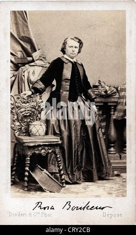 Portrait of Rosa Bonheur, ca 1865, by Adolphe Disderi - - Stock Image