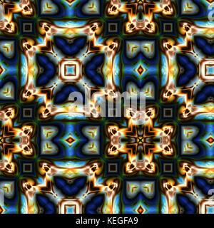 Colored glass ornament - Stock Image