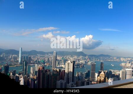 View Of Cityscape Against Cloudy Sky - Stock Image