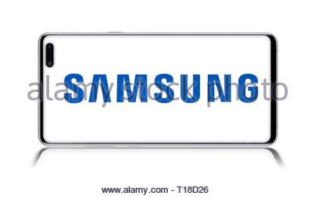 Samsung logo - Stock Image
