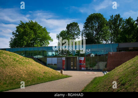 Exterior of the World War 1 Museum at Thiepval in Northern France - Stock Image