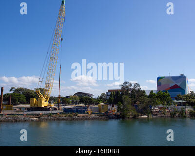Construction Site At Surfers Paradise On The Gold Coast - Stock Image