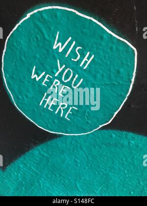 Street art with sentiment - Stock Image