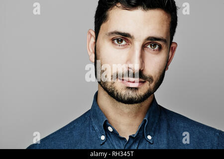 Portrait of smiling man - Stock Image