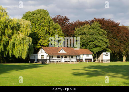 The Pavilion at Bakewell Cricket Club in Bakewell, Peak District National Park, Derbyshire - Stock Image