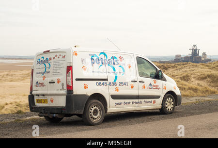 Petpals van parked near the beach - Stock Image
