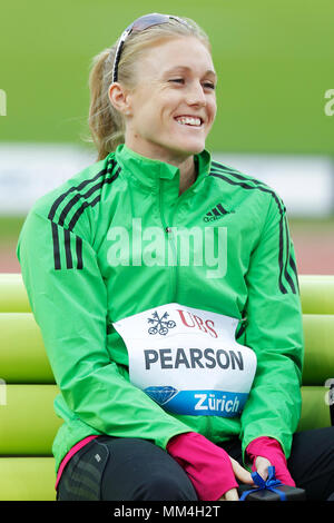Zurich, Switzerland. 08th, Sep 2011.  Australian's Sally  Person before competition in the final of the Women's 100m hurdle during the IAFF Diamond Le - Stock Image
