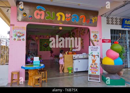 Ice cream shop, Phuket town, Thailand - Stock Image
