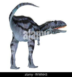 Majungasaurus Dinosaur Tail - Majungasaurus was a carnivorous theropod dinosaur that lived in Madagascar during the Cretaceous Period. - Stock Image