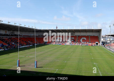 Blue sky at Bloomfield Road during the Betfred Championship Summer Bash match at Bloomfield Road, Blackpool. - Stock Image