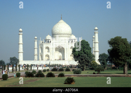 Taj Mahal, Agra, Rajasthan, India - Stock Image
