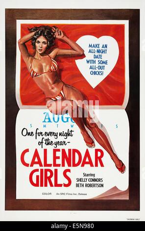 CALENDAR GIRLS, US poster art, 1977 - Stock Image
