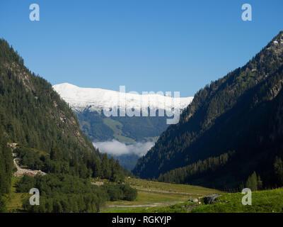 Mountain peak view - Stock Image