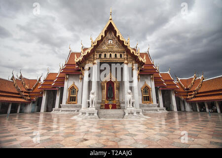 The Marble Temple in Bangkok, Thailand. - Stock Image