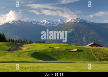 Crans sur Sierre Golf Club, Switzerland - Stock Image