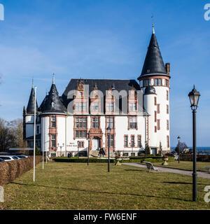 Hotel, Klink castle hotel, Klink, lake Mueritz, Mecklenburg-Vorpommern, Germany - Stock Image