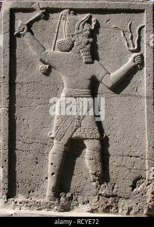 6401. Hittite  storm God Adad, c. 3000 BC. - Stock Image