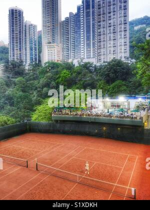 Any one for tennis? The Ladies Recreational Club, Hong Kong. - Stock Image