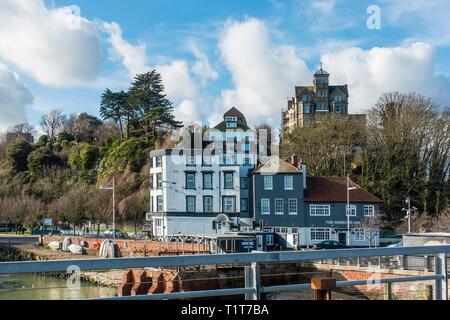 The Harbour Inn,Pub,Folkestone Harbour,Folkestone,Kent,England - Stock Image