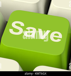 Save Computer Key As Symbol For Discount Or Promotion - Stock Image