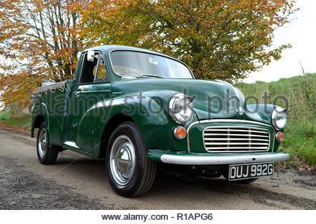 An original 1969 built Morris Minor pick up truck. UK registration. - Stock Image