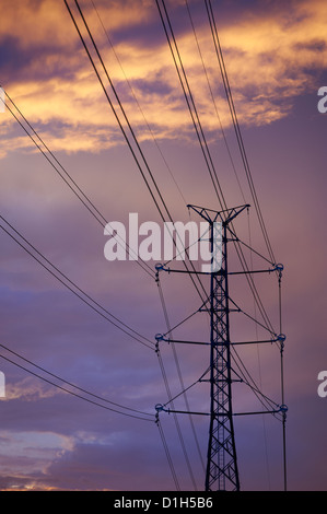 Electricity pylon - Stock Image