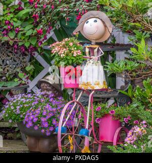 Garden Decoration, Old Town, Stavanger, Norway - Stock Image