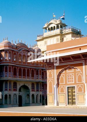 City Palace, Jaipur, Rajasthan, India - Stock Image