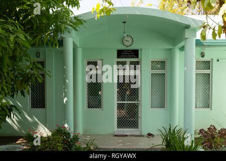 Maldives magistrates house, Ukulhas Island, Alif Alif atoll, the Maldives Asia - Stock Image