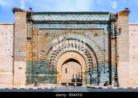 Bab Agnaou Gate in the Medina of Marrakech, Morocco - Stock Image
