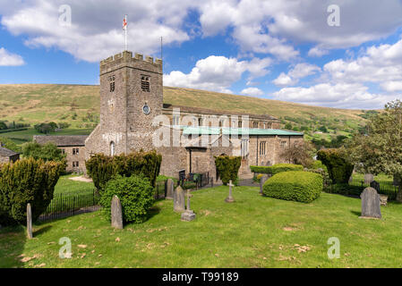 St Andrew's church in the Pennine fells,  Dent. Cumbria. - Stock Image
