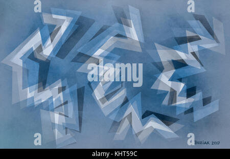 Abstract painting by Ed Buziak. - Stock Image