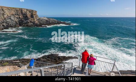 Mizen Head on the Wild Atlantic Way, County Cork, Republic of Ireland.  Eire. - Stock Image