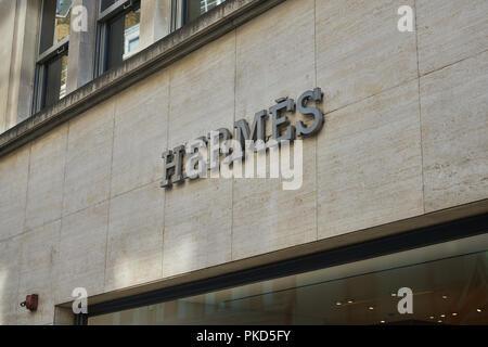 bond street london  Hermes - Stock Image