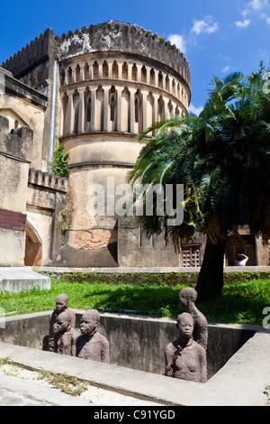 The slave memorial in Stone Town, Zanzibar - Stock Image