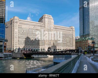 The Merchandise Mart, Chicago, Illinois. - Stock Image