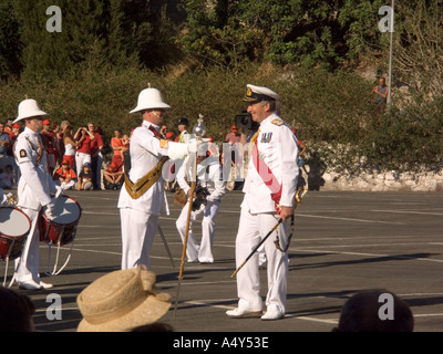 First Sea Lord Admiral Sir Alan West at the Honorary Freedom of the City of Gibraltar Ceremony  Gibraltar Tercentenary dignitary - Stock Image