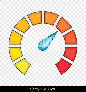 Large speedometer icon, cartoon style - Stock Image