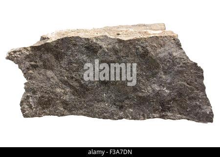 Hornblendite rock sample - Stock Image