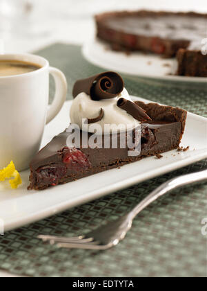 Chcocolate cherry cake - Stock Image