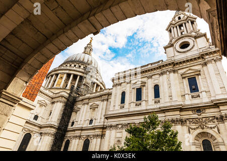 St Paul's Cathedral, St Paul's cathedral, City of London, England, UK, GB, London landmark, London city UK, St Pauls, cathedral, cathedrals, building - Stock Image