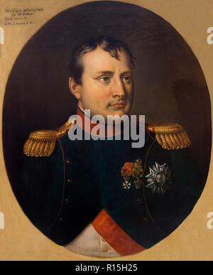 Napoleon I, Portrait, Rene Theodore Berthon, 1809, Lady Lever Art Gallery, Port Sunlight, Liverpool, England, UK, Europe - Stock Image