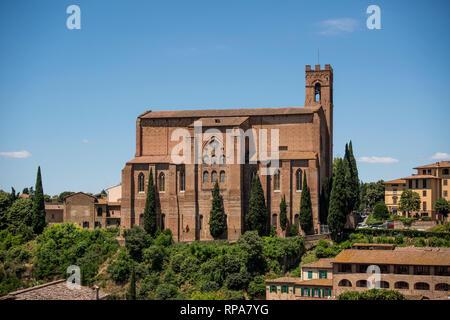 Basilica of San Domenico, Siena, Tuscany, Italy - Stock Image