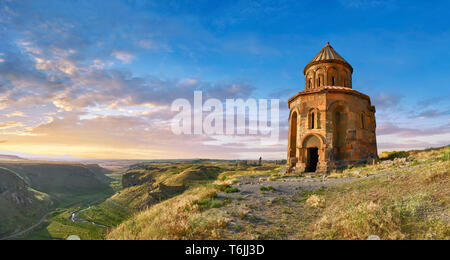 The Armenian church of St Gregory of the Abughamrents, Ani archaelogical site on the Ancient Silk Road ,  Anatolia, Turkey - Stock Image