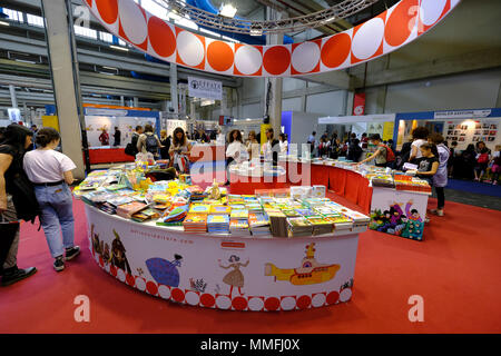 Turin, Piedmont, Italy, 10th May, 2018. International Book fair 2018,first day. Gallucci publisher's stand Credit: RENATO VALTERZA/Alamy Live News - Stock Image
